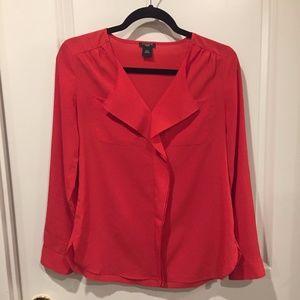 Ann Taylor coral blouse sz xxs petite (fits s)